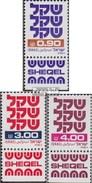 Israel 861-863 Mit Tab (kompl.Ausg.) Postfrisch 1981 Freimarken: Schekel - Israel