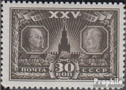 Union Soviétique 851 Neuf Avec Gomme Originale 1943 Revolution - Neufs
