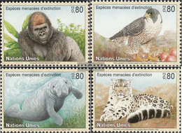 UN - Geneva 227-230 (complete Issue) Unmounted Mint / Never Hinged 1993 Affected Animals - Geneva - United Nations Office