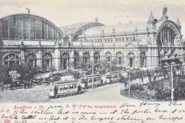 FRANKFORT A M.  HAUPTBAHNHOF ( RAILROAD  STATION ) TO  U.S.A.  1904  (o) - Frankfurt A. Main