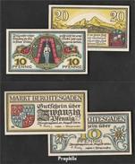 Berchtesgaden Notgeld: 76.1 Deux Notgeldscheine Le Ville Berchtesgaden  1920 10 & 20 Pfennig Berchtesgaden - [ 3] 1918-1933 : Weimar Republic