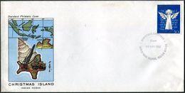 CHRISTMAS ISLAND Indian Ocean 1982 Greetings Cover MAP Landkarte Crane Dump Truck Muldenkipper Kran Grue Camion Benne - Christmas Island