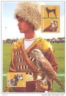 2013. Turkmenistan, Falcon's Hunting, Dogs Or Turkmenistan, S/s, Mint/** - Aigles & Rapaces Diurnes