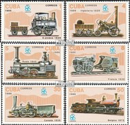 Cuba 3017-3022 (complète.Edition.) Neuf Avec Gomme Originale 1986 Locomotives - Cuba