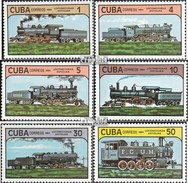 Cuba 2859-2864 (complète.Edition.) Neuf Avec Gomme Originale 1984 Locomotives - Cuba