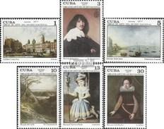 Cuba 2190-2195 (complète.Edition.) Neuf Avec Gomme Originale 1977 Peintures National Museum - Nuovi