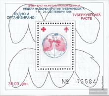 Makedonien Z Block21A (complete Issue) Zwangszuschlagsmarken Unmounted Mint / Never Hinged 1996 Red Cross - Macedonia