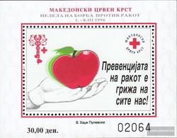 Makedonien Z Block18A (complete.issue.) Zwangszuschlagsmarken Unmounted Mint / Never Hinged 1996 Red Cross - Macedonia