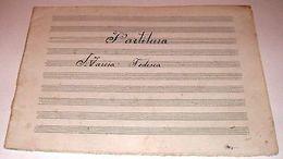 Musica Partitura Militare Manoscritto - 1900 Ca 03 - Vecchi Documenti