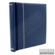 Schaubek DK110/3 Spring Back Binder, Red Leatherette, In A Incl. 40 Blank Sheets Bb110 Blue - Stockbooks