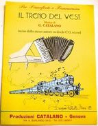 Musica Spartito - Il Treno Del West - Pianoforte O Fisarmonica - 1989 - Documentos Antiguos