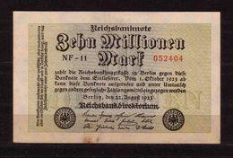 304d * DEUTSCHES REICH 105 * ZEHN MILLIONEN MARK * 22.AUGUST 1923 **!! - [ 3] 1918-1933 : Weimar Republic