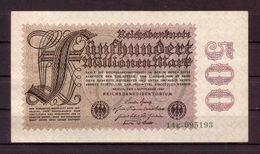306d * DEUTSCHES REICH 109b * FÜNFHUNDERT MILLIONEN MARK * 1.SEPTEMBER 1923 **!! - [ 3] 1918-1933 : Weimar Republic