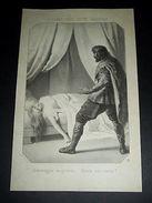 Stampa Incisione - Le Donne Degli Ultimi Carolingi .. Gisela Era Morta ! 1850 Ca - Stampe & Incisioni