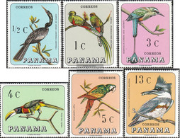 Panama 989-994 (complete Issue) Unmounted Mint / Never Hinged 1967 Locals Birds - Panama