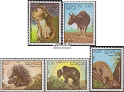 Laos 846-850 (complete Issue) Unmounted Mint / Never Hinged 1985 Animals - Laos