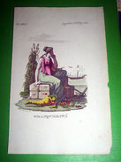 Stampa Incisione Mitologia - TRANQUILLITA' - 1700 Ca - Stampe & Incisioni