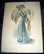 Stampa Litografia D' Epoca Originale - Moda Abiti Donna  B85 - 1900 Ca - Stampe & Incisioni