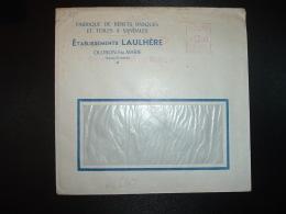 LETTRE EMA CG 2271 à 1200 Du 13 VII 53 OLORON STE MARIE (64)Ets LAULHERE FABRIQUE DE BERETS BASQUES ET TOILES A SANDALES - Postmark Collection (Covers)