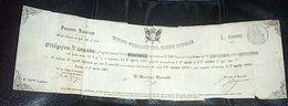 Scripofilia - Obbligazione Regno Italia Titoli Debito Pubblico  L. 10000 - 1866 - Non Classificati