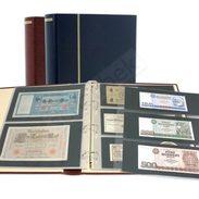 Schaubek Rb-1023 Ring Binder Diplomat, Incl. 20 Stock Sheets Fo-102 Blue - Stockbooks