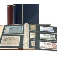 Schaubek Rb-1033 Ring Binder Diplomat, Incl. 20 Stock Sheets Fo-103 Blue - Stockbooks