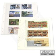 Schaubek SBL10-10 Schaubek-Blanko-Like - 10 Sheets Yellowish-white 3 Pockets 251 X 90 Mm - Other Supplies And Equipment