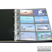 Schaubek ST2-1015 Sheets For Phonecards Black Interleave, 206 Mm X 264 Mm (10 Pieces) - Zubehör