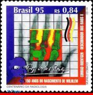 Ref. BR-2553 BRAZIL 1995 SCIENCE, X-RAY, ROENTGEN,, BIRTHDAY, HEALTH, MI# 2668, MNH 1V Sc# 2553 - Unused Stamps