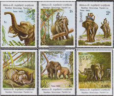 Laos 523-528 (complete Issue) Unmounted Mint / Never Hinged 1982 Elephants - Laos