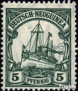 Allemand-nouvelle-guinée 21I Impression De Paix Avec Charnière 1914 Expédier Imperial Yacht Hohenzollern - Colonie: Nouvelle Guinée