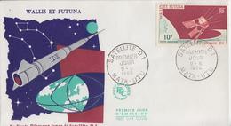 Enveloppe 1er Jour     WALLIS  Et  FUTUNA     Satellite  D1      MATA - UTU    1966 - FDC