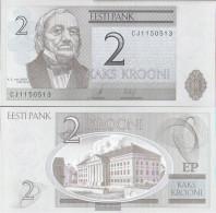 Estonia Pick-number: 85b Uncirculated 2007 2 Krooni - Estonia