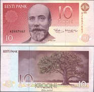 Estonia Pick-number: 72b Uncirculated 1992 10 Krooni - Estland