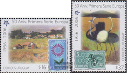 Uruguay 2880-2881 (complete Issue) Unmounted Mint / Never Hinged 2005 50 Years Europe Trade - Uruguay