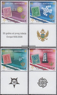 Montenegro 108I-111I With Zierfeld (complete.issue.) Unmounted Mint / Never Hinged 2006 50 Years Europe Trade - Montenegro