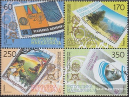Makedonien 370-373 Block Of Four (complete Issue) Unmounted Mint / Never Hinged 2005 50 Years Europe Trade - Macedonia