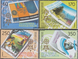 Makedonien 370-373 (complete Issue) Unmounted Mint / Never Hinged 2005 50 Years Europe Trade - Macedonia