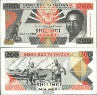 Tanzania Pick-number: 25b Uncirculated 1993 200 Shilingi - Tanzania