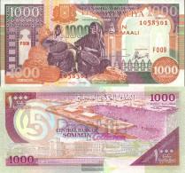 Somalia Pick-number: 37b Uncirculated 1996 1.000 Shilling - Somalia