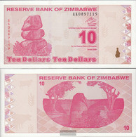 Zimbabwe Pick-number: 94 Uncirculated 2009 10 Dollars - Zimbabwe