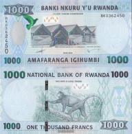 Rwanda Pick-number: 42 Uncirculated 2015 1.000 Francs - Rwanda