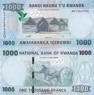 Rwanda Pick-number: 42 Uncirculated 2015 1.000 Francs - Ruanda