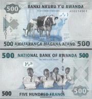 Rwanda Pick-number: 38 Uncirculated 2013 500 Francs - Rwanda