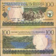 Rwanda Pick-number: 29b Uncirculated 2003 100 Francs Cattle - Rwanda
