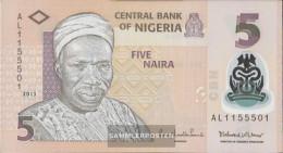 Nigeria Pick-number: 38d Uncirculated 2013 5 Naira - Nigeria