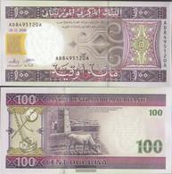 Mauritania Pick-number: 10 (2008) Uncirculated 2008 100 Ouguiya - Mauritania