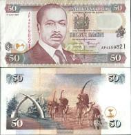 Kenya Pick-number: 36a1 Uncirculated 1996 50 Shillings - Kenia
