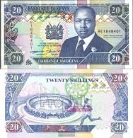 Kenya Pick-number: 31a Uncirculated 1993 20 Shillings - Kenia