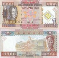 Guinea Pick-number: 43 Uncirculated 2010 1.000 Francs - Guinea